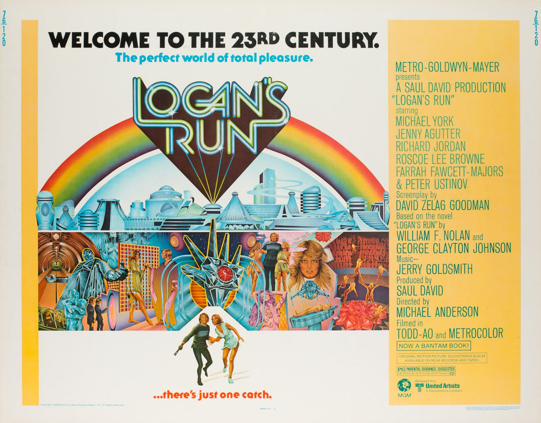 Logan's Run 1976 US Half Sheet Film Poster