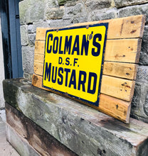 Load image into Gallery viewer, Industrial Colman's DSF Mustard Enamel Sign