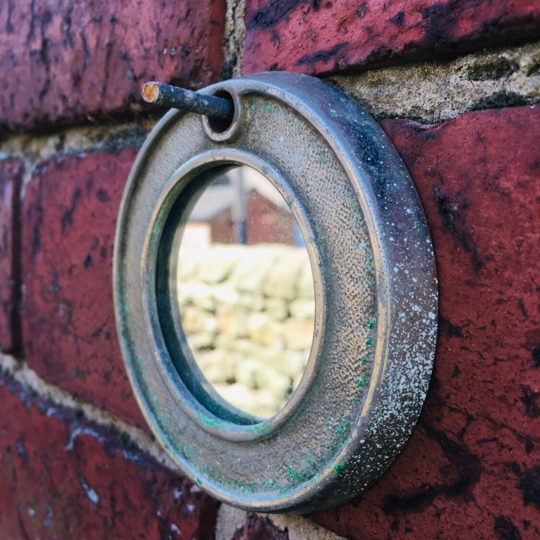 Vintage Industrial Small Mirror #2