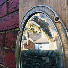 Load image into Gallery viewer, Vintage Metal Oval Industrial Small Mirror #5
