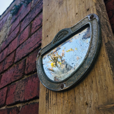 Vintage Metal Industrial Small Mirror #4