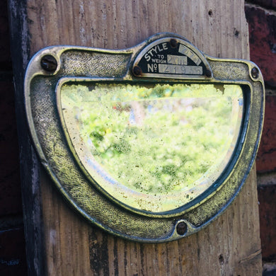Vintage Small Industrial Bevelled Mirror #3