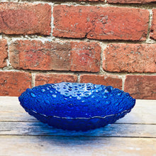 Load image into Gallery viewer, Sklo Union Pavel Panek Blue Glads Bubble Bowl