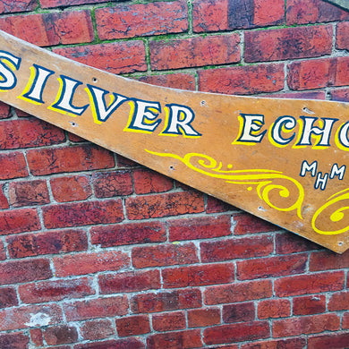 Silver Echo MHM Wooden Shop Sign