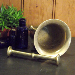 Vintage Apothecary Pestle And Mortar - Large