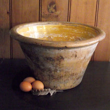 Load image into Gallery viewer, Large Vintage Rustic Dairy Bowl