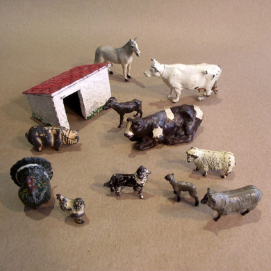 Vintage Toy Figures - Farm Animals
