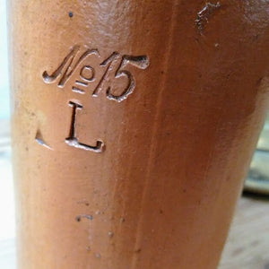Stoneware Gin Bottle with Embossed Anchor