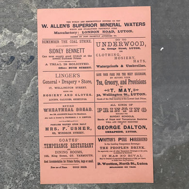 1800's Business adverts print