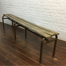 Load image into Gallery viewer, Vintage French School Bench