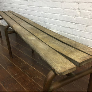 Vintage French School Bench
