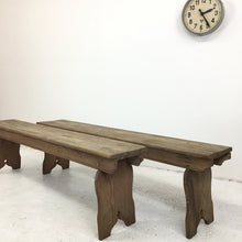 Load image into Gallery viewer, Antique Pine Church Pew Bench