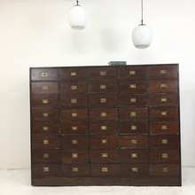 Load image into Gallery viewer, Antique Wooden Haberdashery Storage Drawers