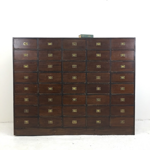 Antique Wooden Haberdashery Storage Drawers