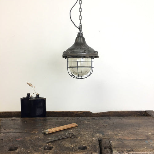 Cast GEC Polished Pendant Factory Light