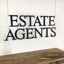 Load image into Gallery viewer, Antique Cast Iron Estate Agents Wall Hanging Sign