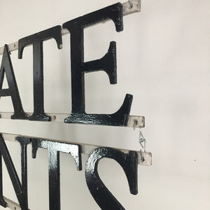 Antique Cast Iron Estate Agents Wall Hanging Sign