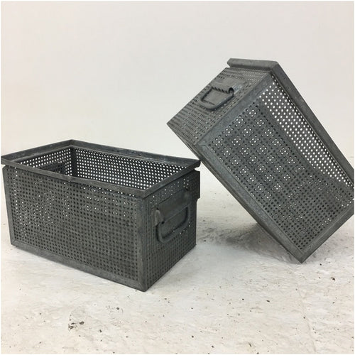 Metal Perforated Stacking Schaffer Storage Crate