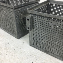Load image into Gallery viewer, Metal Perforated Stacking Schaffer Storage Crate