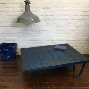 Industrial Blue Pallet Coffee Table