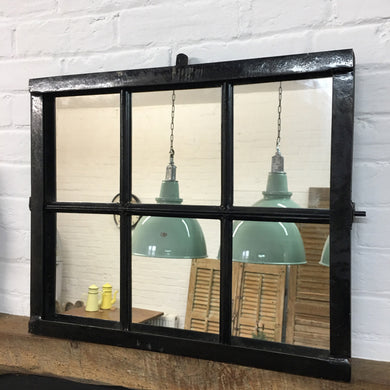 French Factory Metal Window Mirror