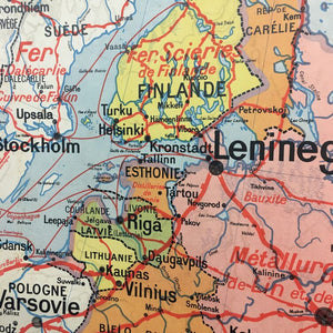 French Vidal Lablanche Vintage Map - Russia