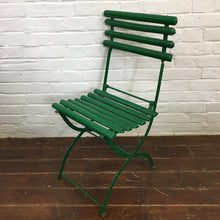 Load image into Gallery viewer, Folding Green French Vintage Garden Chair-2