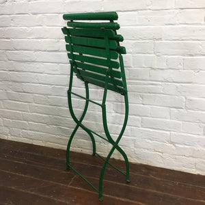 Folding Green French Vintage Garden Chair-2
