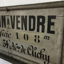 Load image into Gallery viewer, French Estate Agents Vintage Wooden Sign