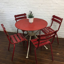 Load image into Gallery viewer, French Garden Table Chair Set-Red