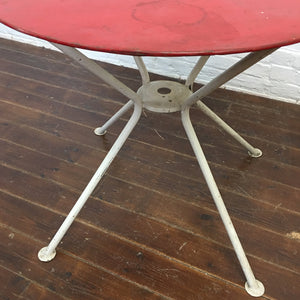 French Garden Table Chair Set-Red