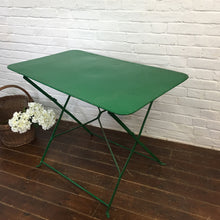 Load image into Gallery viewer, Green French Vintage Garden Table Set