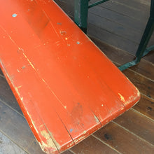 Load image into Gallery viewer, Vintage German Beer Hall Table and Bench Set-Red Orange