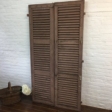 Vintage Wooden French Shutters