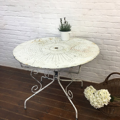 White French Vintage Garden Table-1