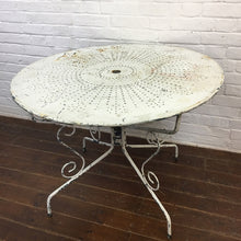 Load image into Gallery viewer, White French Vintage Garden Table-1