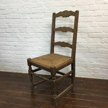 Load image into Gallery viewer, French Rush Seat Ladder back Chair