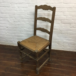 French Rush Seat Ladder back Chair