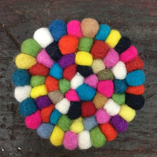 Load image into Gallery viewer, Original Nepalese felt ball trivet