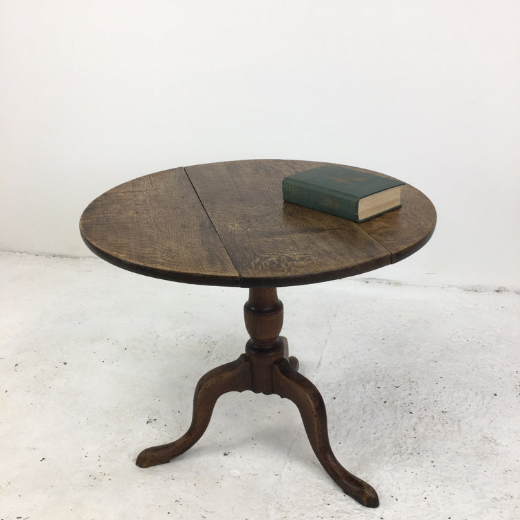 Oak Antique Tripod Table