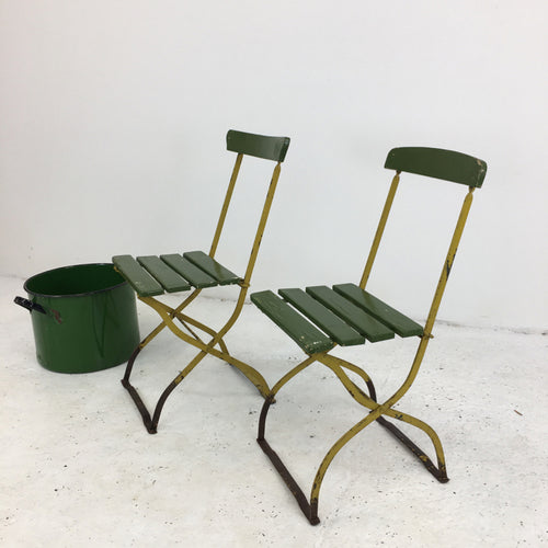 Pair of Vintage Dutch Garden Chairs