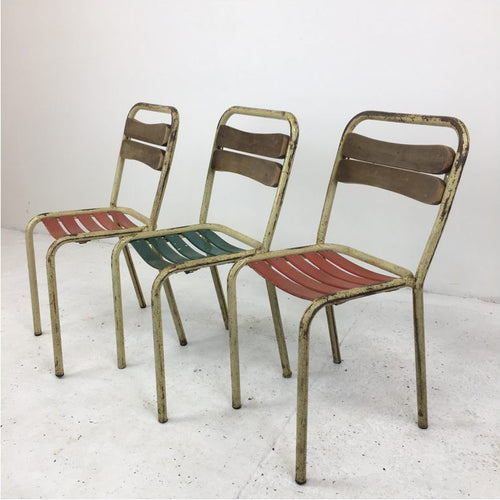 French Tolix Style Bistro Chairs
