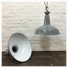 Load image into Gallery viewer, Benjamin Vintage Pendant Light Shade Grey 18""