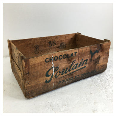 French Wooden Chocolat Poulain Box