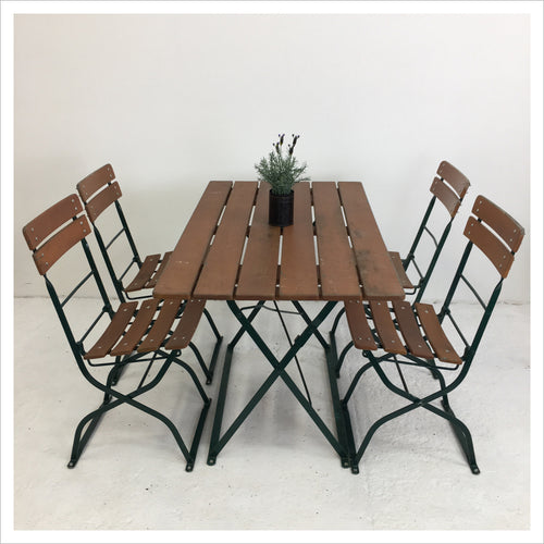 German Vintage Garden Table and Chair Set