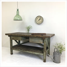 Load image into Gallery viewer, Wooden French Vintage Workbench