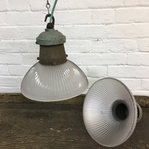 Industrial Glass Holophane Light