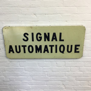 Vintage French Railway Crossing Sign