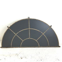 Load image into Gallery viewer, Cast Iron Arched Reclaimed Metal Window Mirror