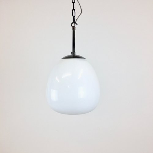 Church Antique Opaline Pendant Light